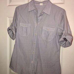 1Blue & white stripe JCrew button down shirt